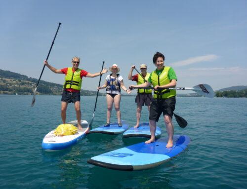 Stand Up Paddle (SUP) Ausflug zum Hallwilersee – August 2018