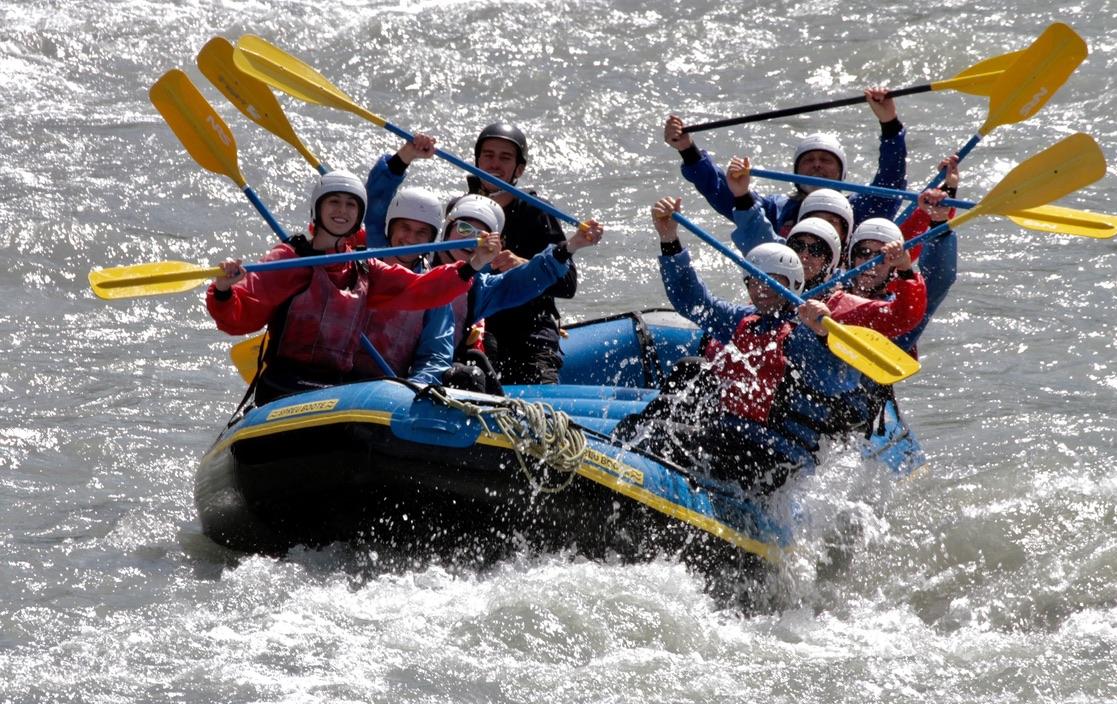 River-Rafting Vorderrhein Ilanz Juli 2021