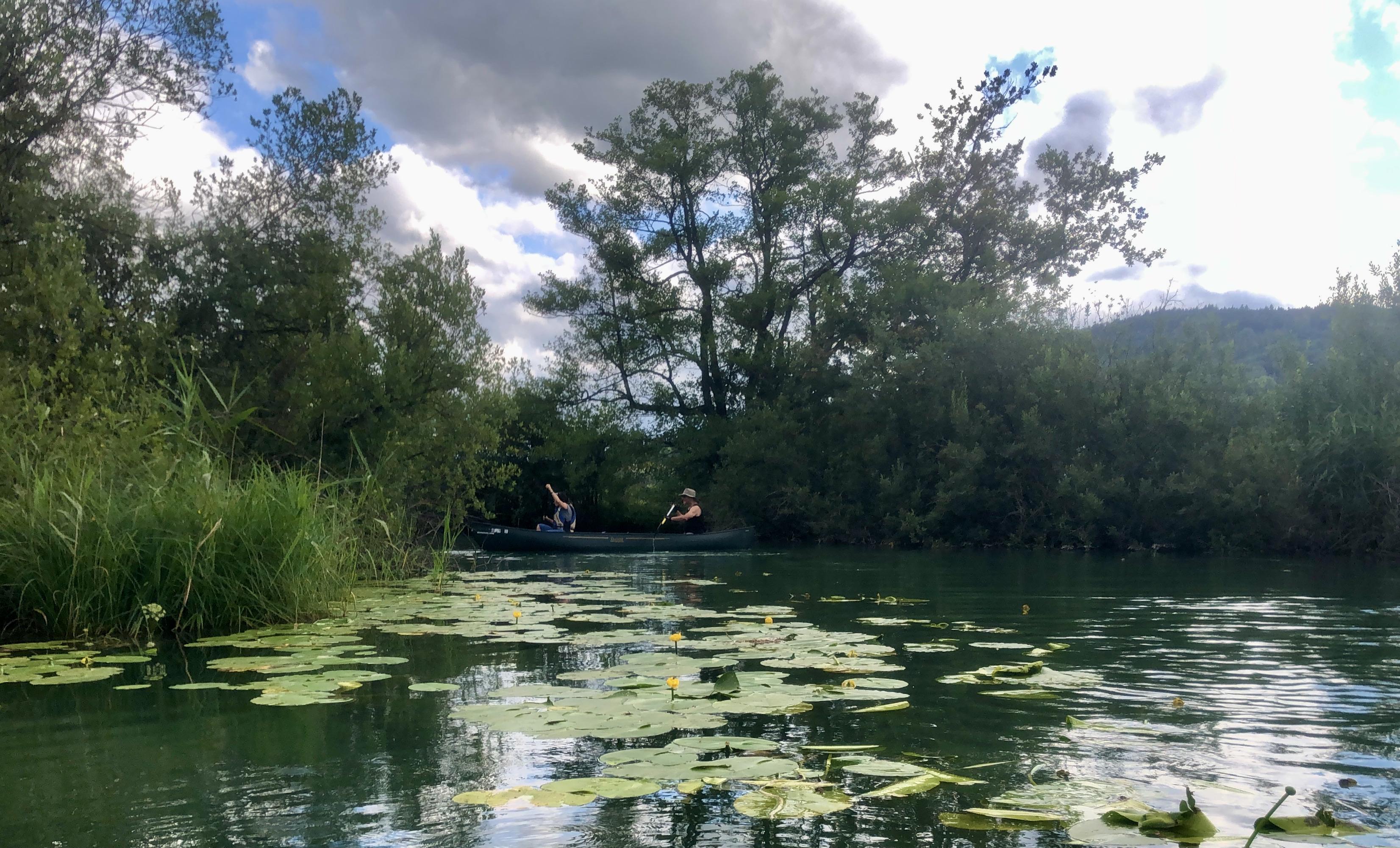 Kanu Ausflug Hallwiler See August 2021