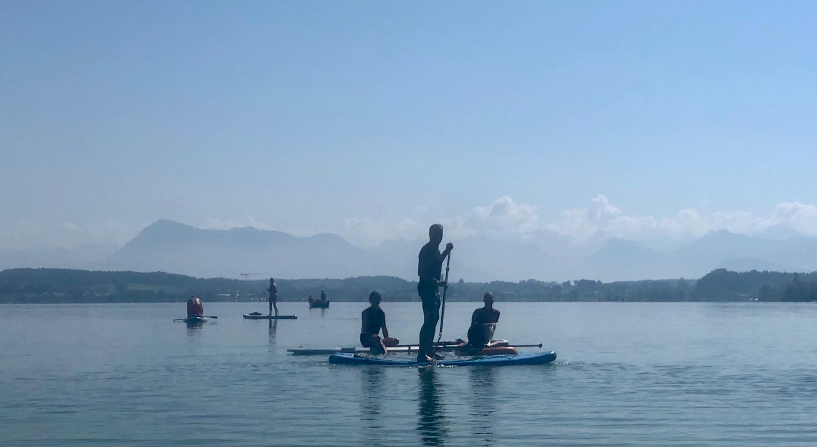 Stand Up Paddle Ausflug Sempachersee September 2021